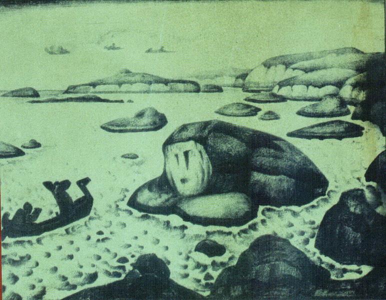Н.К. Рерих. Великанша Кримгерд (Эдда). 1915
